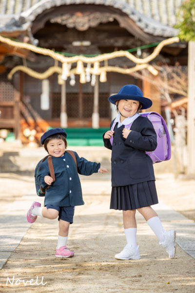 熊野神社で記念撮影