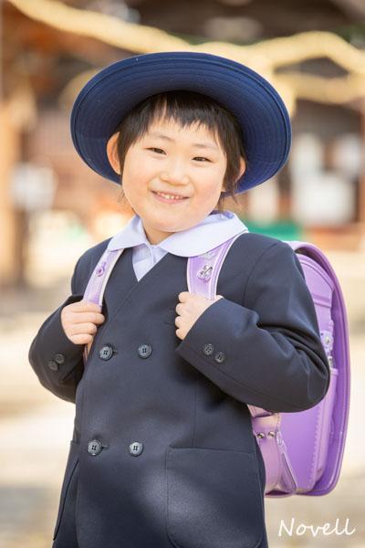 熊野神社で入学記念