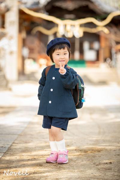 熊野神社で入園撮影